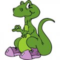 Dinosaur DIY iron on stickers (heat transfer) version 14