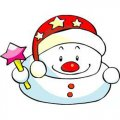 Personalized Christmas Snowman DIY decals stickers 4