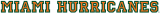 Miami Hurricanes 1940-1971 Wordmark Logo 01 iron on transfer