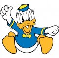 Donald Duck DIY decals stickers version 2