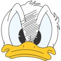 Donald Duck DIY decals stickers version 20