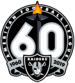 Oakland Raiders 2019 Anniversary Logo iron on transfer