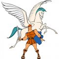 Hercules Pegasus decal sticker
