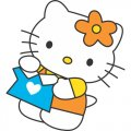 Hello Kitty DIY iron on stickers (heat transfer) version 6