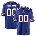 Buffalo Bills Custom Letter and Number Kits For Royal Jersey