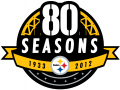 Pittsburgh Steelers 2012 Anniversary Logo iron on transfer