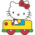Hello Kitty DIY iron on stickers (heat transfer) version 16