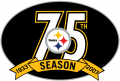 Pittsburgh Steelers 2007 Anniversary Logo iron on transfer