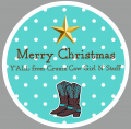 Merry Christmas logo Decals Stickers