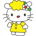 Hello Kitty DIY iron on stickers (heat transfer) version 11