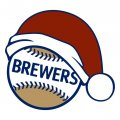 Milwaukee Brewers Baseball Christmas hat iron on transfer