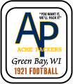 Green Bay Packers 1921 Primary Logo decal sticker