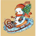 Personalized Christmas Snowman DIY decals stickers 1