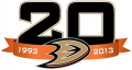 Anaheim Ducks 2013 14 Anniversary Logo decal sticker