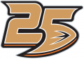 Anaheim Ducks 2018 19 Anniversary Logo decal sticker