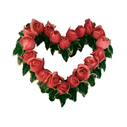 Valentine Day Roses iron on stickers (heat transfer) 3