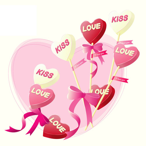 Valentine Day iron on stickers (heat transfer) 4