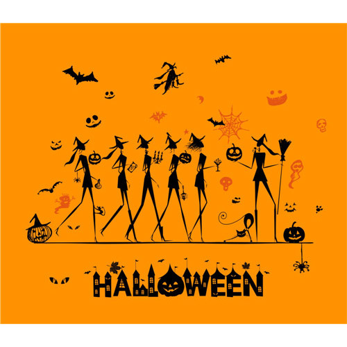 Halloween party shirt DIY decals stickers