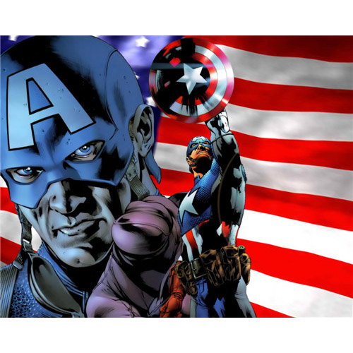 Captain America DIY iron on stickers (heat transfer) 2