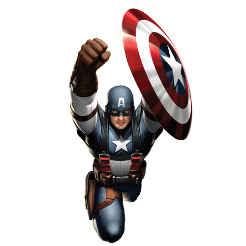 Captain America DIY iron on stickers (heat transfer) 4