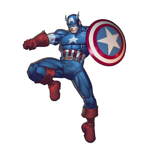 Captain America DIY iron on stickers (heat transfer) 5