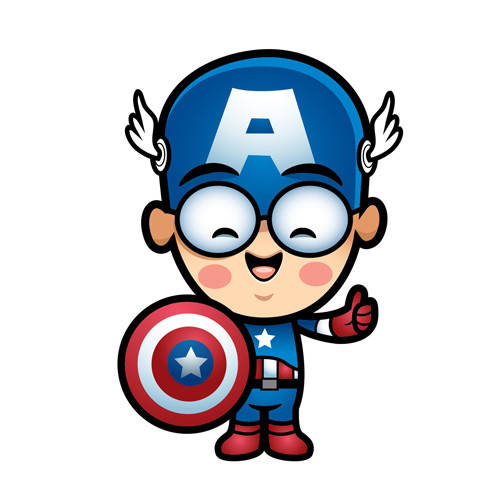 Captain America DIY iron on stickers (heat transfer) 7