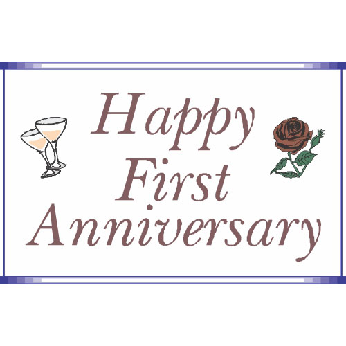 First Anniversary DIY iron on stickers (heat transfer)