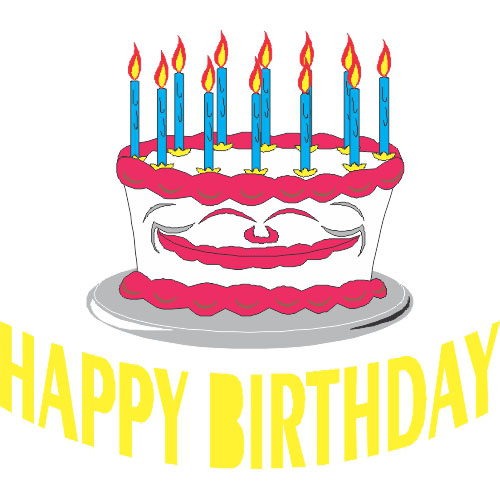 Happy Birthday DIY decals stickers version 6