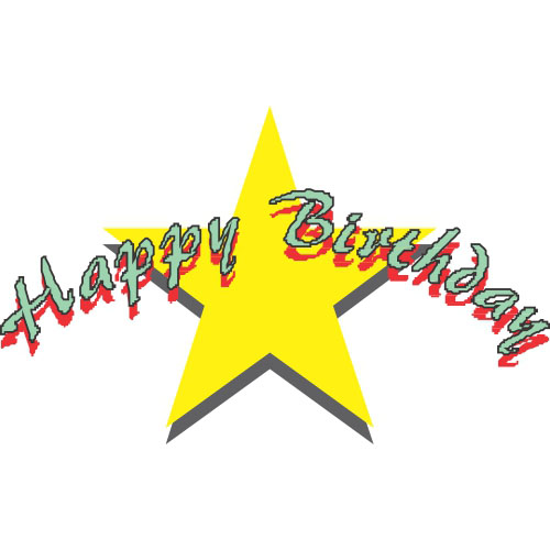 Happy Birthday DIY decals stickers version 8
