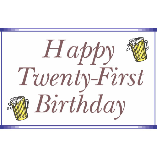 Happy Twenty-First Birthday DIY decals stickers