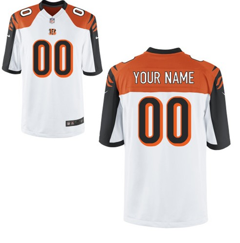 Cincinnati Bengals Custom Letter and Number Kits For New White Jersey