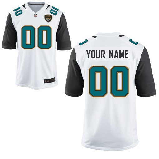 Jacksonville Jaguars Custom Letter and Number Kits For New White Jersey