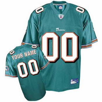 Miami Dolphins Custom Letter and Number Kits For Team Color Jersey