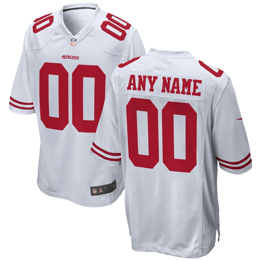 San Francisco 49ers Custom Letter and Number Kits For White Jersey
