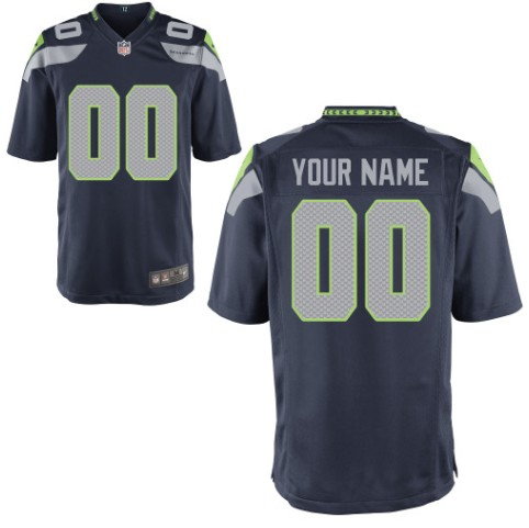 Seattle Seahawks Custom Letter and Number Kits For New Team Color Jersey