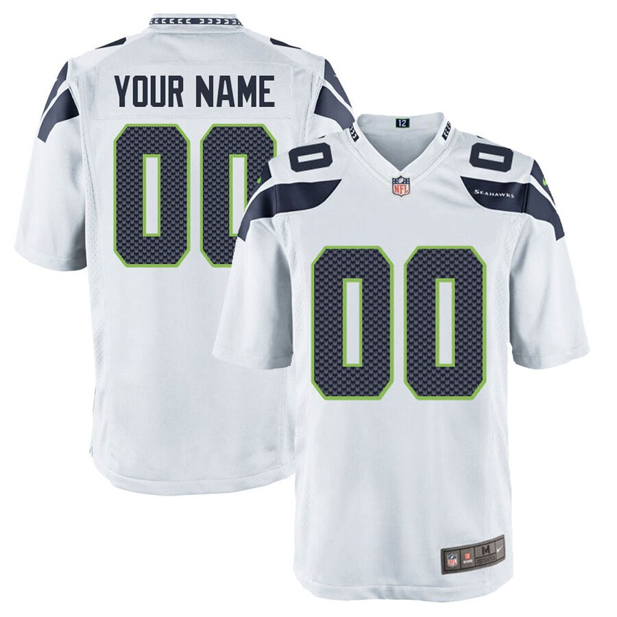 Seattle Seahawks Custom Letter and Number Kits For White Jersey