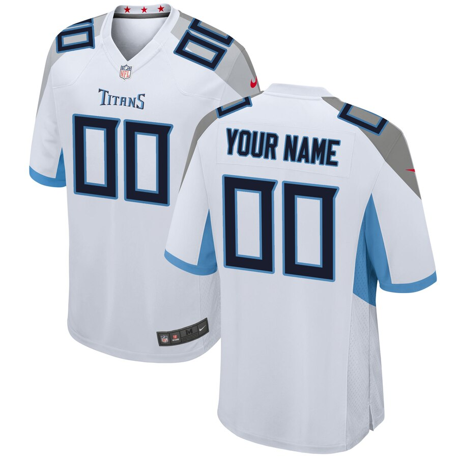 Tennessee Titans Custom Letter and Number Kits For White Jersey