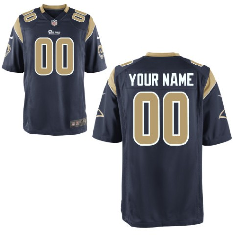 St. Louis Rams Custom Letter and Number Kits For New Team Color Jersey