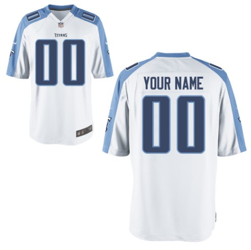Tennessee Titans Custom Letter and Number Kits For New White Jersey
