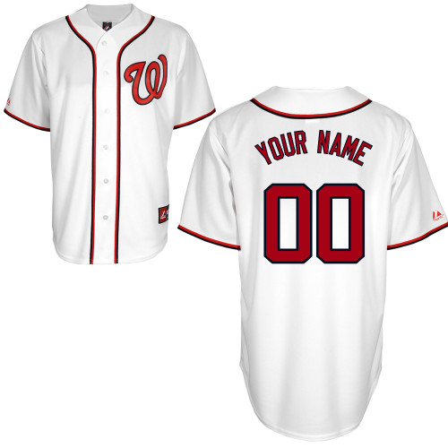 Washington Nationals Custom Letter and Number Kits for Home Jersey